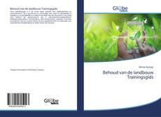 Обложка Behoud van de landbouw Trainingsgids