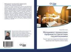 Обложка Менеджмент промислових підприємств стратегічних галузей економіки