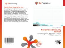 Bookcover of Novell Cloud Security Service