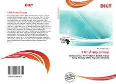 Bookcover of 11th Army Group