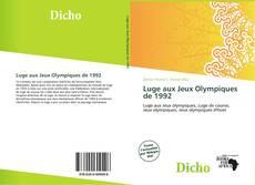 Couverture de Luge aux Jeux Olympiques de 1992