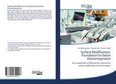Portada del libro de Surface Modification: Foundation for better Osseointegration