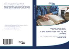 Capa do livro de O`zbek tilining izohli imlo lug`ati (A harfi)