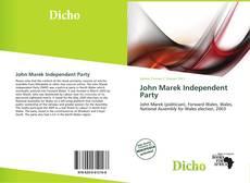 Capa do livro de John Marek Independent Party