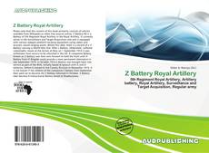 Capa do livro de Z Battery Royal Artillery