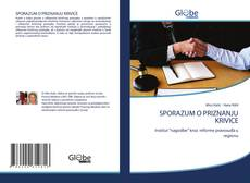 Bookcover of SPORAZUM O PRIZNANJU KRIVICE