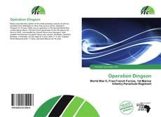 Capa do livro de Operation Dingson