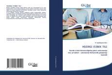 Bookcover of HOZIRGI O'ZBEК TILI