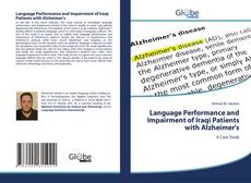 Capa do livro de Language Performance and Impairment of Iraqi Patients with Alzheimer's