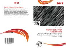 Serhiy Yakovych Shevchenko kitap kapağı