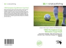 Bookcover of 1963 European Cup Winners' Cup Final