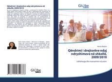 Buchcover von Qëndrimi i drejtorëve ndaj ndryshimeve në shkollë, 2009/2010