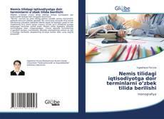 Buchcover von Nemis tilidagi iqtisodiyotga doir terminlarni o'zbek tilida berilishi