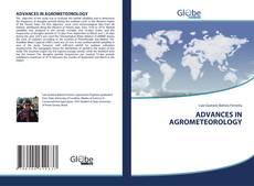 Обложка ADVANCES IN AGROMETEOROLOGY