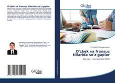 Buchcover von O'zbek va fransuz tillarida so'z gaplar