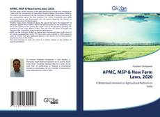 Buchcover von APMC, MSP & New Farm Laws, 2020