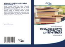 Buchcover von MUSTAQILLIK DAVRI HIKOYALARIDA ANTROPONIMLAR