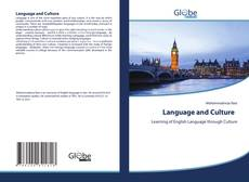 Capa do livro de Language and Culture