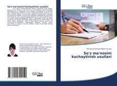 Portada del libro de So'z ma'nosini kuchaytirish usullari
