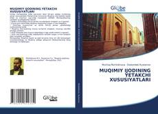 Capa do livro de MUQIMIY IJODINING YETAKCHI XUSUSIYATLARI