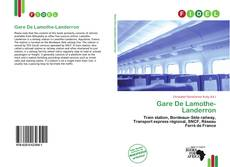 Обложка Gare De Lamothe-Landerron
