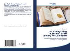 """Copertina di Jon Apdaykning """"Kentavr"""" asari uslubiy xususiyatlari"""