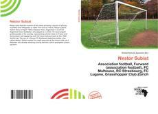 Nestor Subiat kitap kapağı