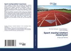 Capa do livro de Sport mashg'ulotlari nazariyasi