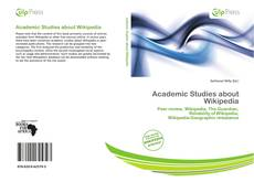 Copertina di Academic Studies about Wikipedia