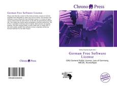 Bookcover of German Free Software License