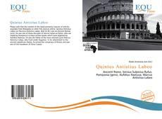Buchcover von Quintus Antistius Labeo