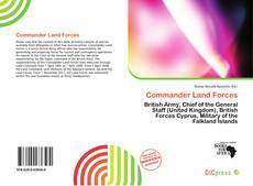 Bookcover of Commander Land Forces