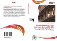 Bookcover of Publius Servilius Vatia Isauricus (Consul 79 BC)