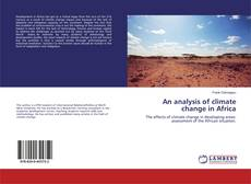 Bookcover of An analysis of climate change in Africa