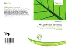 Bookcover of ACL (software company)