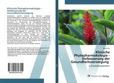 Copertina di Klinische Phytopharmakologie - Verbesserung der Gesundheitsversorgung