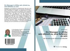 Buchcover von Ein Manager in Afrika sein stimmt zu, eine Referenz zu sein