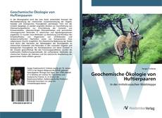 Bookcover of Geochemische Ökologie von Huftierpaaren