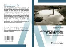 Buchcover von Leistung eines neuartigen Photokatalysators
