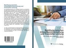Bookcover of Beziehung zwischen Umweltberichterstattung und finanzieller Leistung