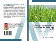 Обложка Physiologie des Reisanbaus mit Bezug auf schlechtes Licht