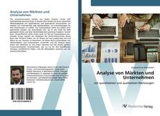 Обложка Analyse von Märkten und Unternehmen