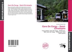 Bookcover of Gare De Cergy – Saint-Christophe