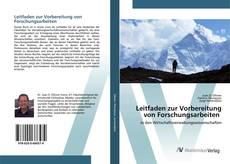 Buchcover von Leitfaden zur Vorbereitung von Forschungsarbeiten