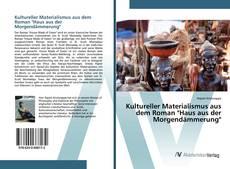 """Copertina di Kultureller Materialismus aus dem Roman """"Haus aus der Morgendämmerung"""""""
