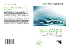 Bookcover of The Army of Republic of Bosnia and Herzegovina