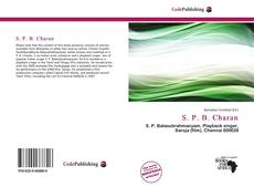 Bookcover of S. P. B. Charan