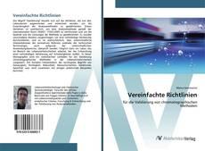 Buchcover von Vereinfachte Richtlinien