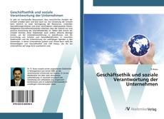 Bookcover of Geschäftsethik und soziale Verantwortung der Unternehmen