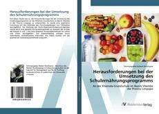 Bookcover of Herausforderungen bei der Umsetzung des Schulernährungsprogramms